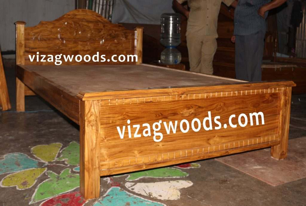Teak Wood Double Cot Furniture